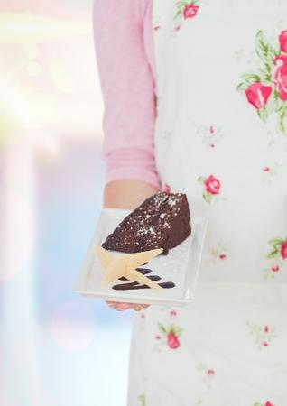 Digital composite of The desert, chocolate ckae