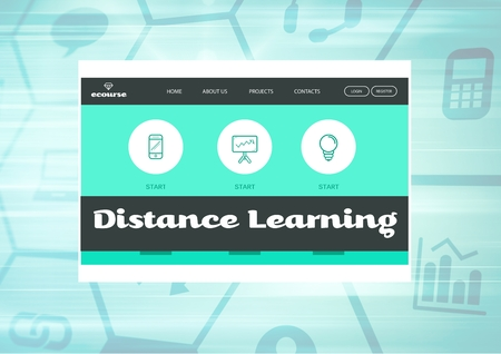 Digital composite of Distance Learning App Interface
