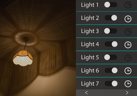 darkroom: Digital composite of Home automation system lighting App Interface