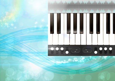 Digital composite of Sound Music and Audio production engineering App Interface