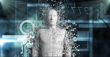 Digital composite of Digital composite image of 3d human