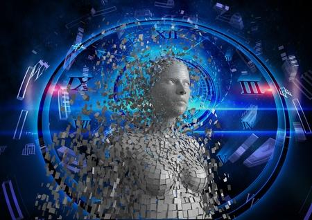 Digital composite of Digital composite image of 3d woman