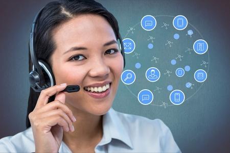 Digital composite of customer care Stock Photo