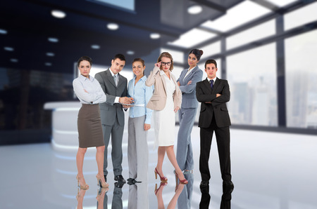 Digital composite of Business group