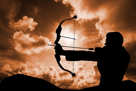 Digital composite of archer Stock Photo