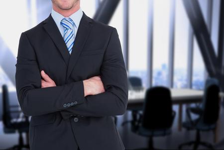 Digital composite of business man