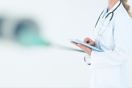 Digital composite of doctor torso Stock Photo