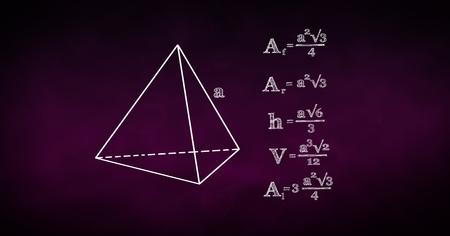 Digital composite of Digital composite image of diagram and math formulas Stock Photo
