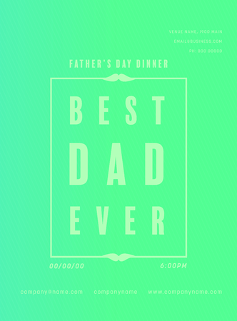 Vector image of greeting card with fathers day message Иллюстрация