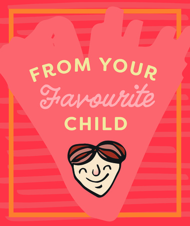 favourite: Vector icon set of fathers day greeting card against white background