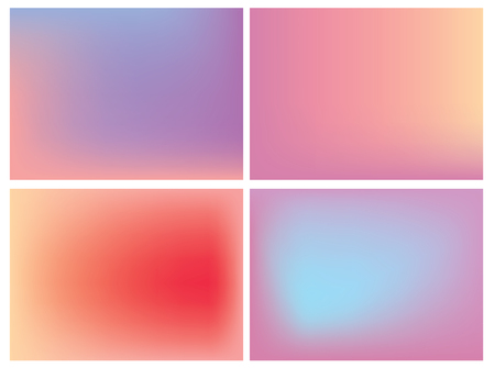 ombre: Vector icon set of neon square against white background Illustration
