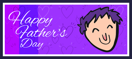 Vector of greeting card with fathers day message