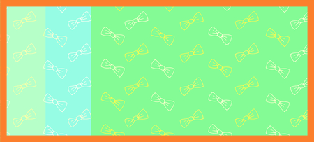 Vector icon of greeting card with bow tie against color background Illustration