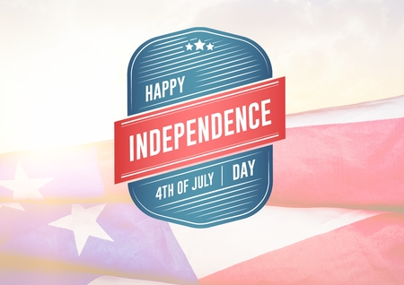 Digital composite of Composite image for independence day Stock Photo