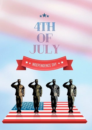 Digital composite of Poster of independence day
