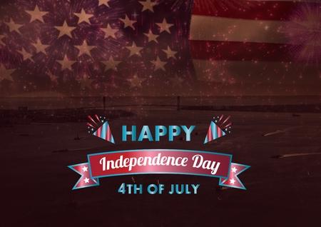 spangled: Digital composite of Independence day design