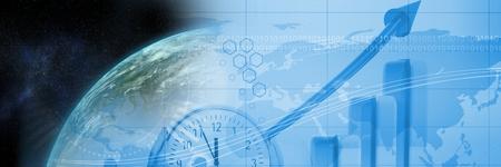 地球と青い財務グラフ転移のデジタル合成