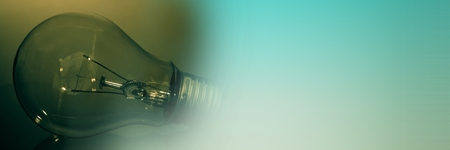 Digital composite of Green light bulb and green transition