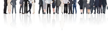 carrying: Digital composite of Group of Business People standing