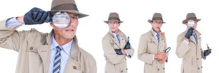 Digital composite of Detective collage Stock Photo