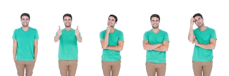 Digital composite of Man expressing feelings collage Stock Photo