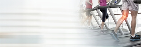 Digital composite of Running on treadmills in Gym with transition