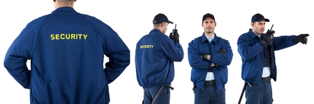 Digital composite of Security guard man collage