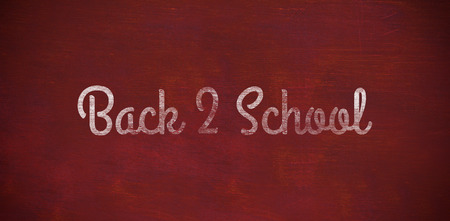 computer animation: Back to school text against white background against brown blackground Stock Photo