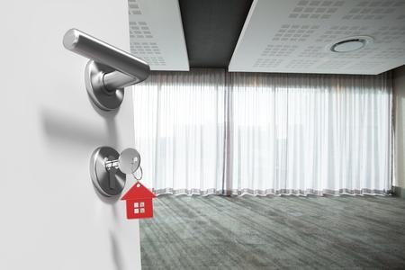 Digital composite of open doors Stock Photo