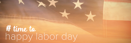 cytosine: Digital composite image of time to happy labor day text against view of beach during sunset