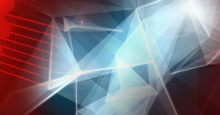 techology: Digital composite of Abstract transition with polygon shapes Stock Photo