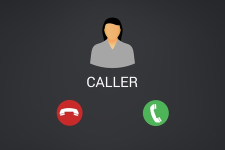 Digital composite of Incoming phone call interface