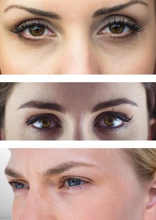 Composite numérique de divers yeux en série de trois Banque d'images - 84560359