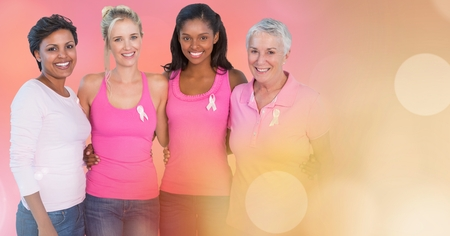 Digital composite of Breast cancer women with transition Stock Photo - 87067199