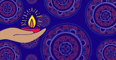 Digital composite of Shubh Diwali background Stock Photo