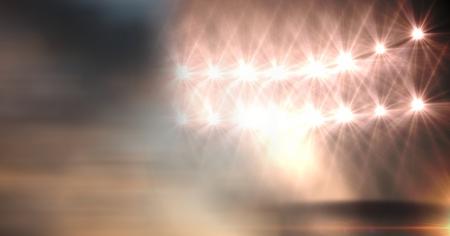 Digital composite of Sports stadium lights transition effect
