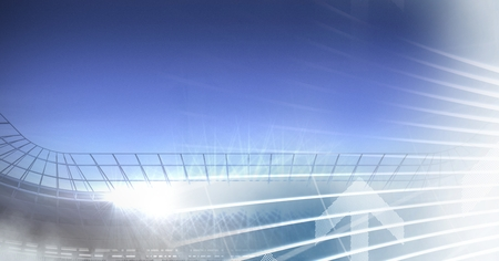 Digital composite of Sports stadium lights transition effect with lines
