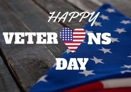 Digital composite of veterans day flag