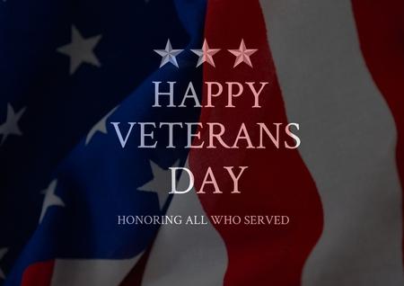 Digital composite of veterans day flag Reklamní fotografie - 88033333