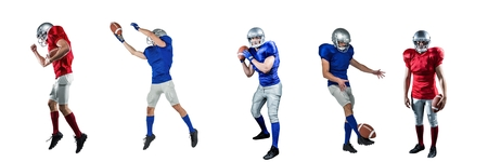 Digital composite of american football players wide Stock Photo