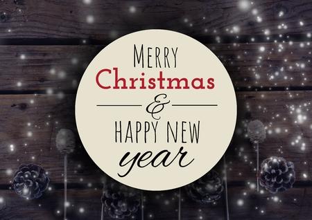 Digital-Zusammensetzung Des Frohen Weihnachten Und Des Guten Rutsch ...