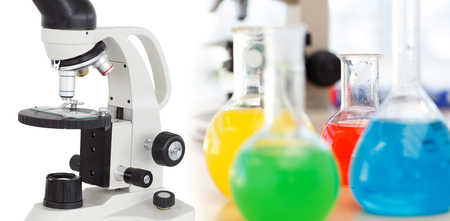 Several Laboratory device Stock Photo