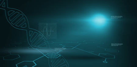 Digital background with DNA helix