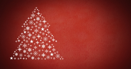 Digital composite of Snowflake Christmas tree pattern shape Stock Photo