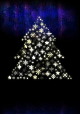 Composite numérique de forme de motif d'arbre de Noël de flocon de neige Banque d'images - 93006028