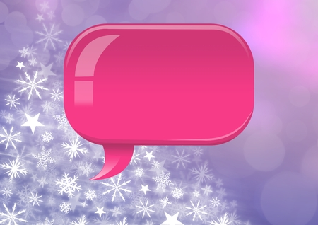 Digital composite of Pink Chat bubble Snowflake Christmas pattern