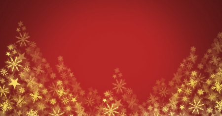 Digital composite of Snowflake Christmas pattern Stock Photo