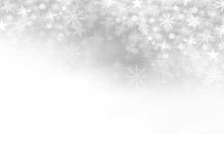 Digital composite of Snowflake Christmas pattern and blank space on grey