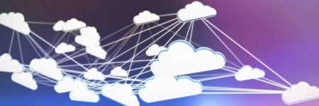 Cloud computing against abstract blue background