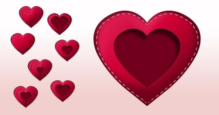 Valentijnsdag ontwerp met harten